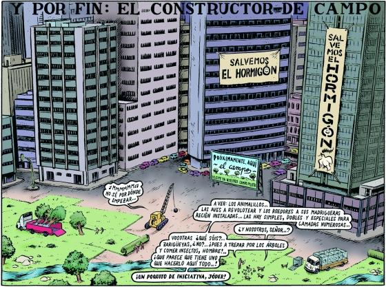 """El Cambio. Ilustración de Miguel Brieva. """"Bienvenido al Mundo"""" Enciclopedia Clismón."""