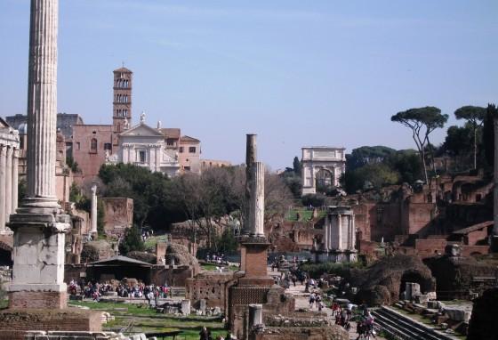 Ruinas del foro romano, Roma, Italia. © Miguel Busto