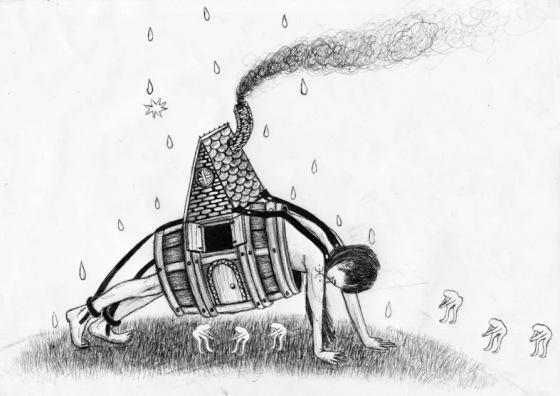 """Acurrucamiento activo"". © Ángela Rodríguez Gallego (Sherpahead)"