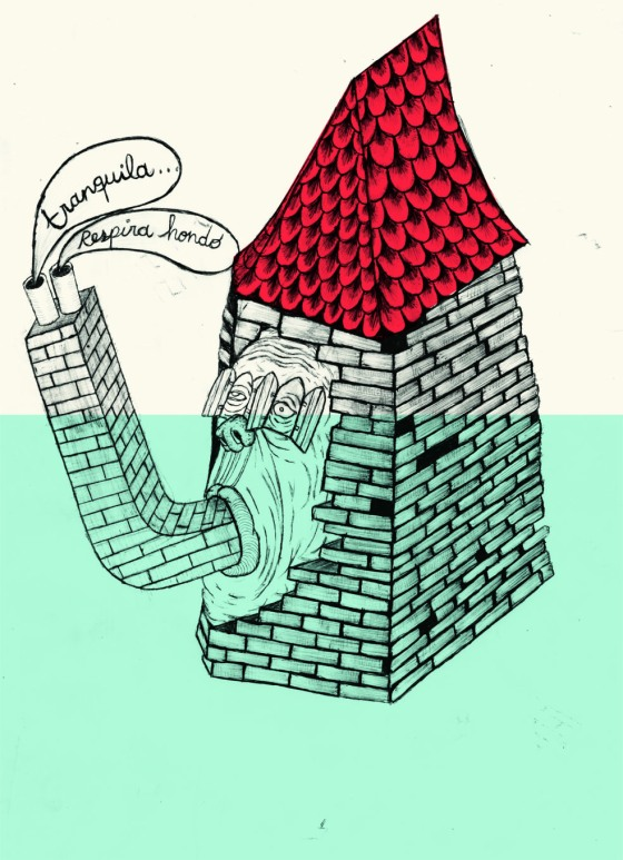 """Si el agua inunda la casa"". © Ángela Rodríguez Gallego (Sherpahead)"