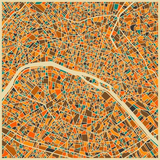Jazzberry Blue. (¿Dónde terminaría realmente la ciudad de París?)