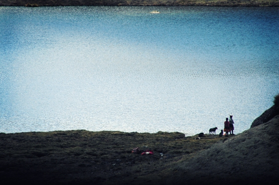 en la gélida laguna