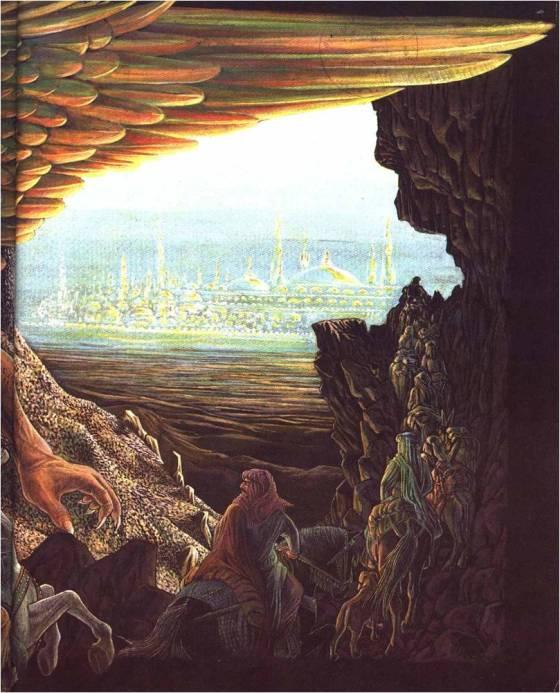 Ilustración de la leyenda preislámica de