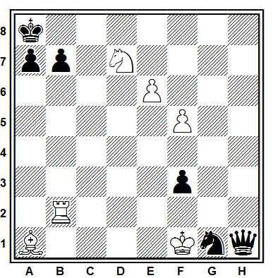 partida-ajedrez-Freedman-Thompson-1949