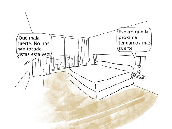 Escena 3 en el mismo hotel que hay en todas las ciudades del mundo