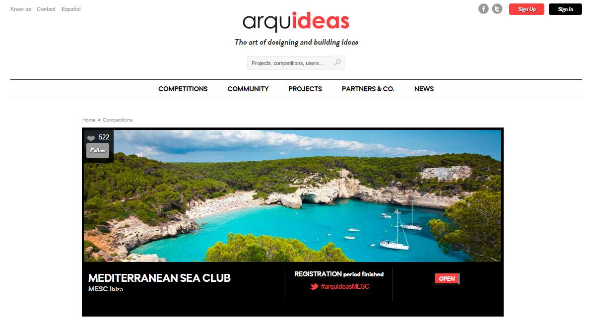 Competition: 'Mediterranean Sea Club Ibiza' / Submission deadline30 June 2015!