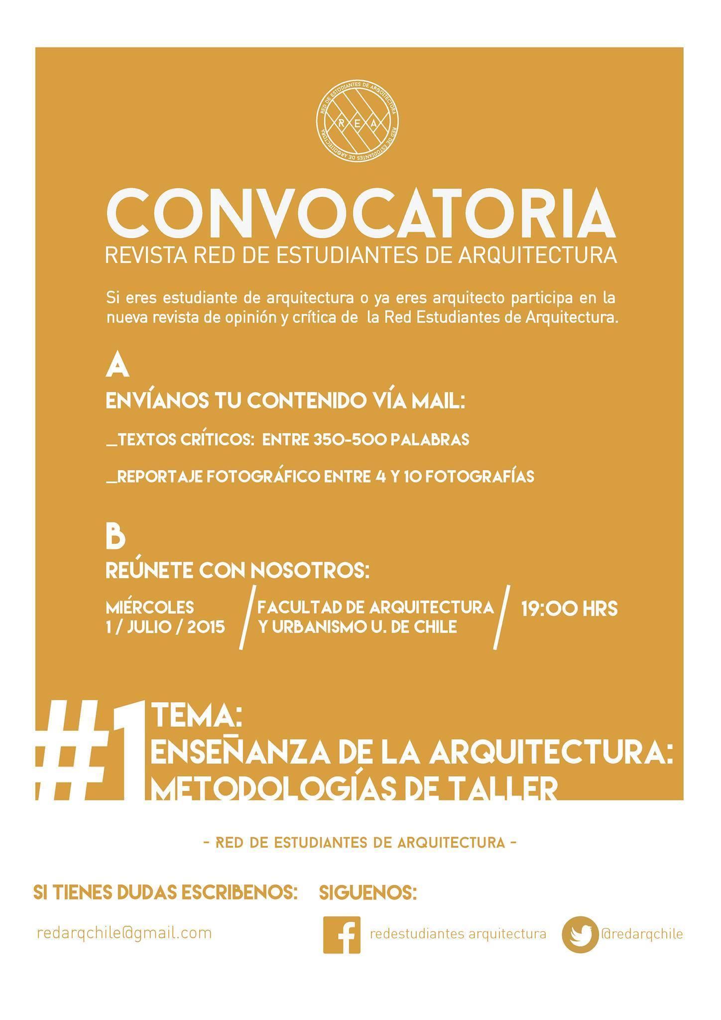Call for papers para autores extranjeros / Revista REA