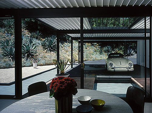 Case Study House #21, interior.