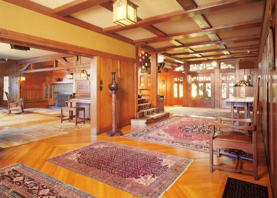 Gamble House, interior.