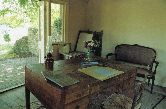 Ilustración 2 La habitación propia de Virginia Wolf en su casa de campo de Monk House en Rodmell. Fotografía propiedad de Terri Windling