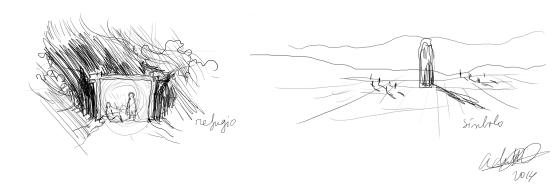 2. refugio y menhir