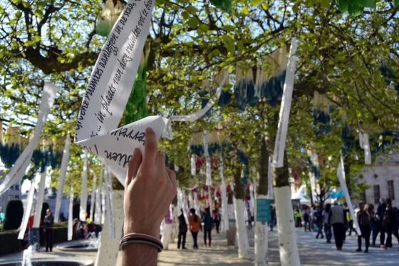 """Peticiones ciudadanas y medidas a implantar en la """"Fête de l'Europe"""" en Bruselas.© Elena Corredor Tamurejo."""